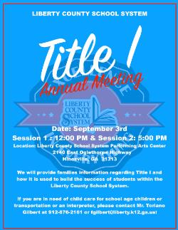 LCSS Title I Annual Meeting- Session 1